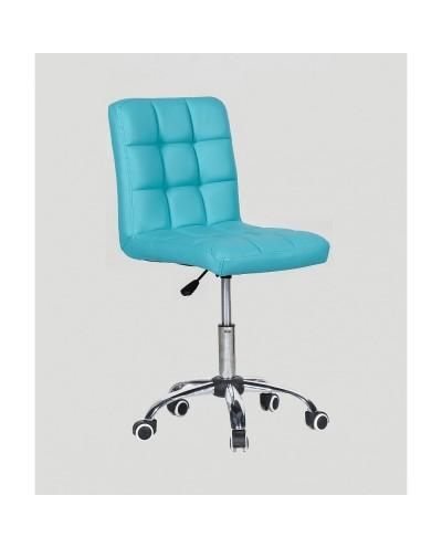 Kris - krzesło kosmetyczne z kółkami turkusowe