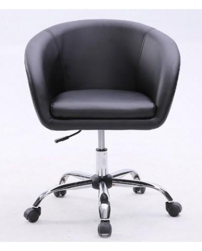 BART- Fotel fryzjerski czarny kółka
