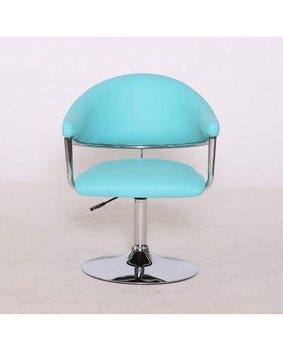 Carole - fotel fryzjerski turkusowy