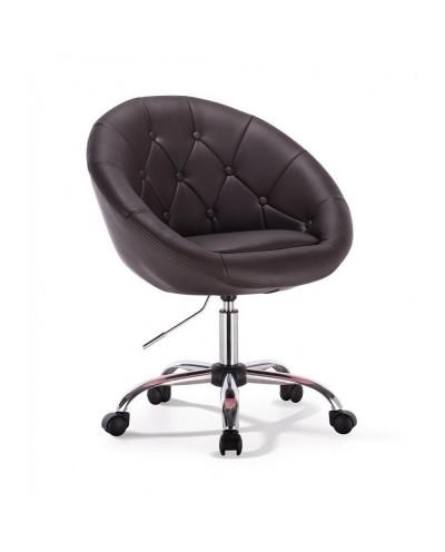 Bol - krzesło kosmetyczne czekoladowe z kółkami