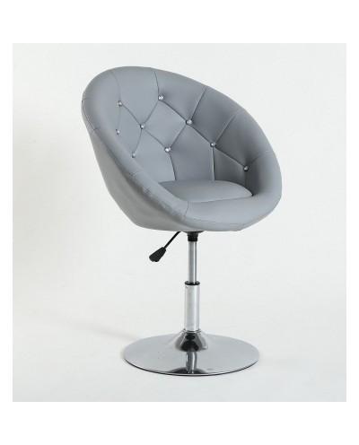 BOL CRISTAL - Fotel fryzjerski szary