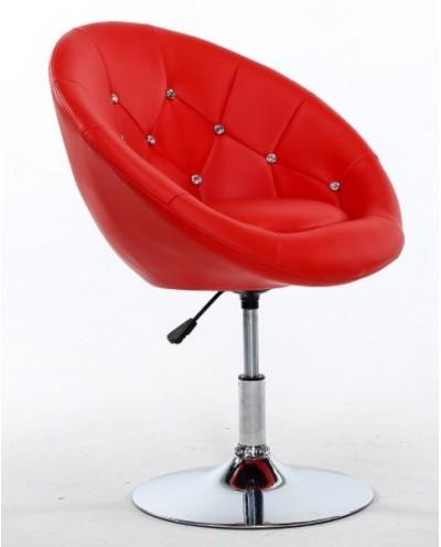 BOL CRISTAL - Fotel fryzjerski CZERWONY
