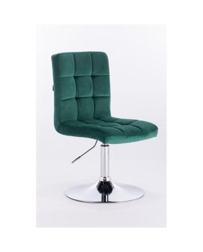 Camelia - krzesło kosmetyczne butelkowa zieleń welur