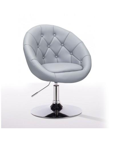 BOL - fotel fryzjerski szary