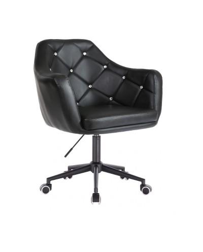 BLINK - Czarny fotel biurowy na kółkach (czarne)