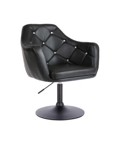 BLINK - Czarny fotel do pokoju (czarny dysk)