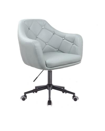 BLINK - Szary fotel biurowy na kółkach (czarne)