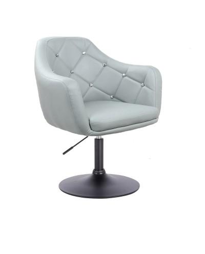 BLINK - Szary fotel do pokoju dziennego (dysk czarny)