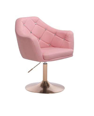 BLINK - Różowy fotel obrotowy (złoty dysk)