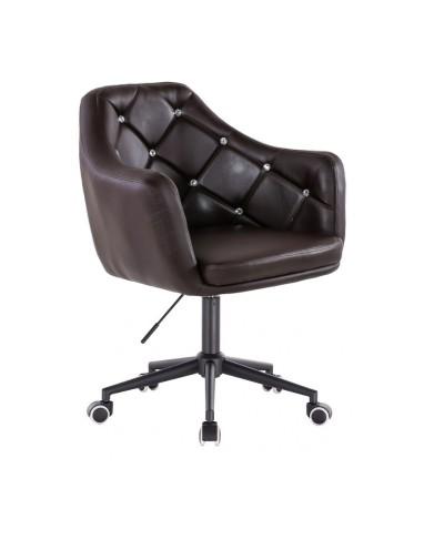 BLINK - Czekoladowy fotel biurowy na kółkach (czarne)