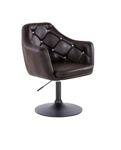 BLINK - Fotel obrotowy czekoladowy (czarny dysk)