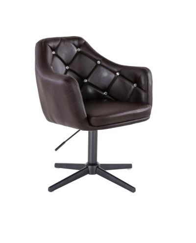 BLINK - Fotel do pokoju dziennego czekoladowy (krzyżak czarny)