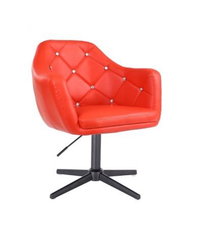BLINK - Czerwony fotel do pokoju dziennego (krzyżak czarny)