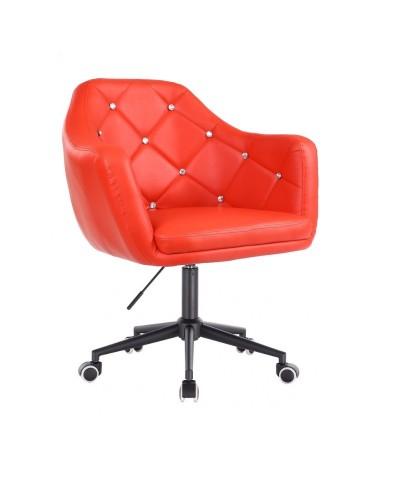 BLINK - Czerwony fotel biurowy na kółkach (czarne)