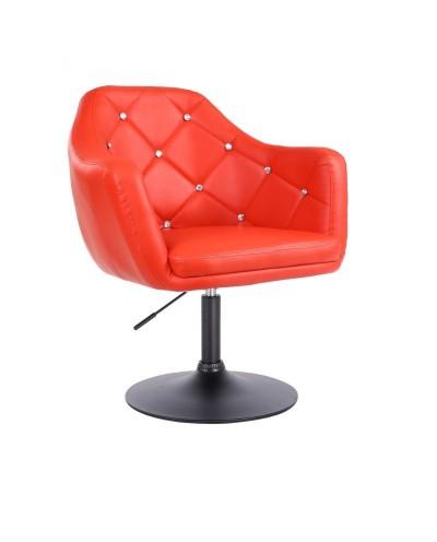 BLINK - Fotel obrotowy czerwony (czarny dysk)