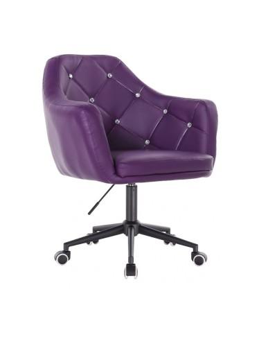 BLINK - Fioletowe krzesło biurowe na kółkach (czarne)