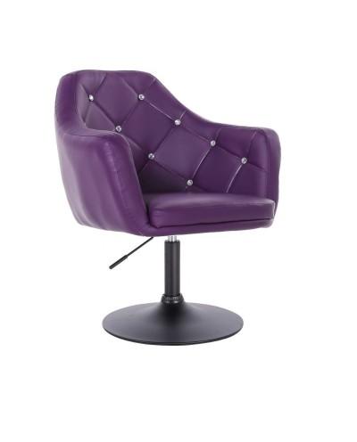 BLINK - Fotel obrotowy fioletowy (czarny dysk)
