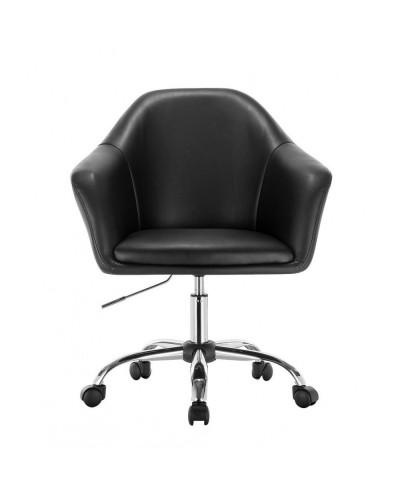Fotel na kółkach BLINK ZET czarny (chrom)