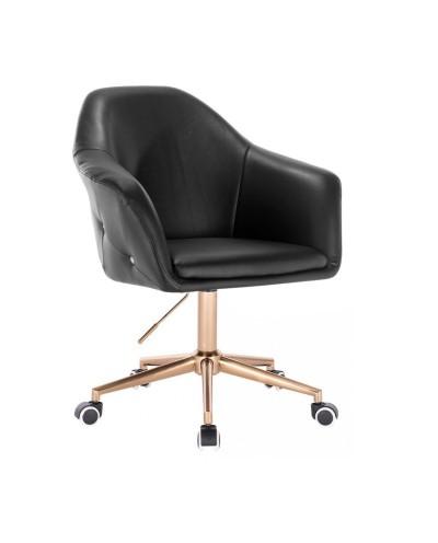 Fotel obrotowy BLINK ZET czarny na kółkach - złoty