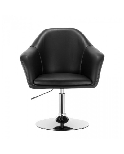 Krzesło BLINK ZET czarne do pokoju dziennego (chromowany dysk)