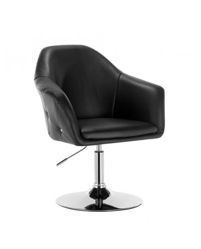 Krzesło BLINK ZET czarne - chromowany dysk
