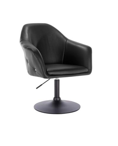 Czarny wygodny fotel BLINK ZET obrotowy - dysk czarny
