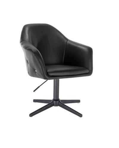 Czarny fotel BLINK ZET do pokoju dziennego glamour - krzyżak czarny