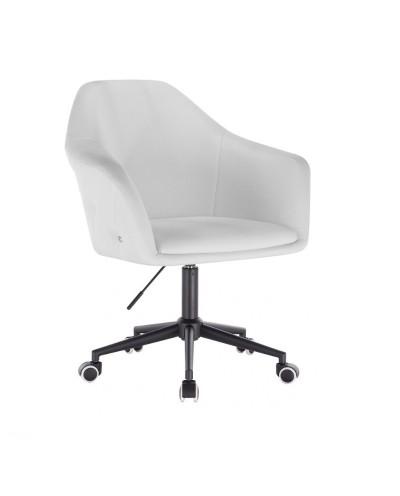 Biały fotel BLINK ZET - czarna podstawa kółka