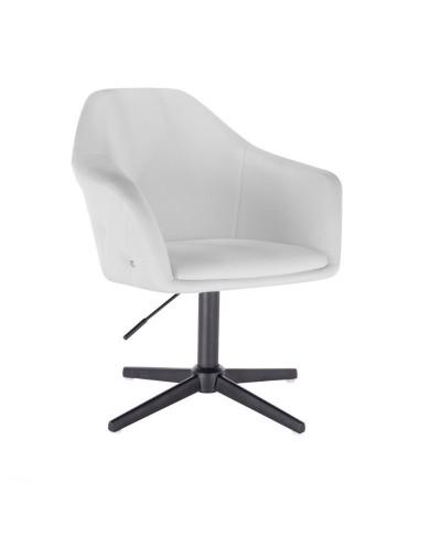 Fotel BLINK ZET biały do pokoju - czarny krzyżak