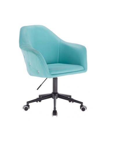 Krzesło młodzieżowe BLINK ZET turkusowe do biurka - czarne kółka