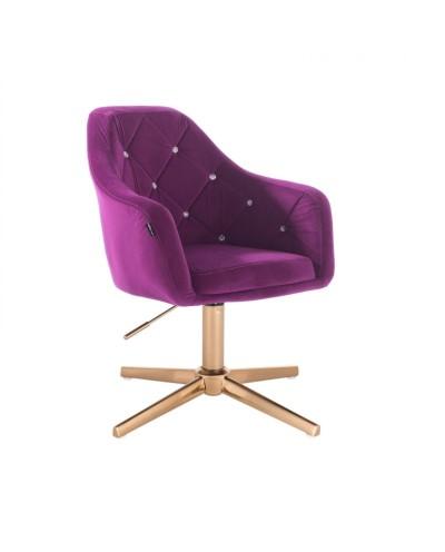 BLERM CRISTAL Krzesło fuksja dla dziewczynki / salon - złoty krzyżak