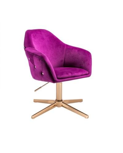 Fotel fuksjowy EDUARDO obrotowy wypoczynkowy - złoty krzyżak