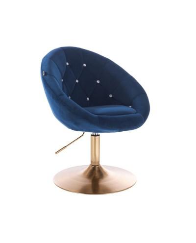 Fotel wypoczynkowy BLOM CRISTAL ciemne morze - złoty dysk