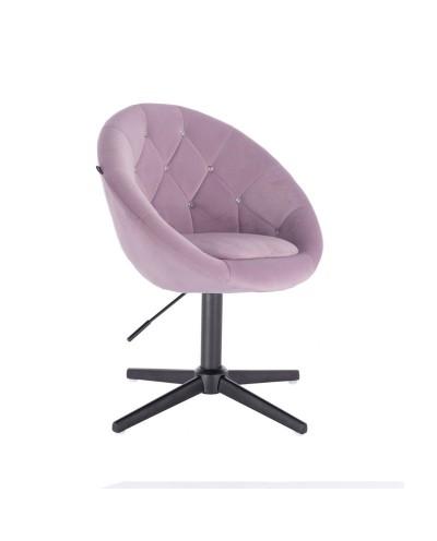 Fotel z kryształkami BLOM CRISTAL wrzosowy - czarny krzyżak