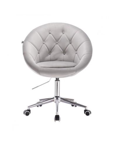 Krzesło na kółkach BLOM stalowe - chromowana podstawa kółka