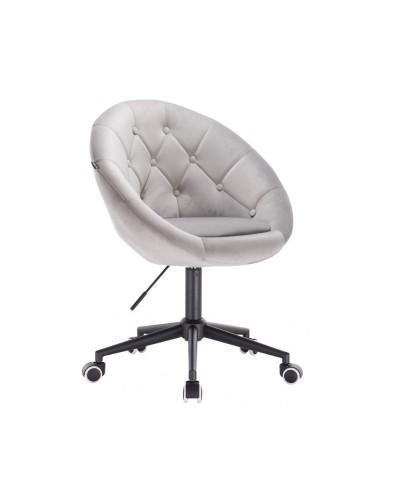 Krzesło obrotowe BLOM stalowy welur - kółka czarne