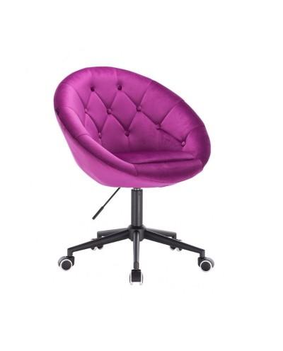 Krzesło welur BLOM fuksja - kółka czarne