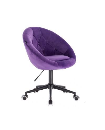 Krzesło na kółkach fioletowe obrotowe BLOM - kółka czarne