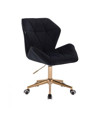 Krzesło biurowe CRONO obrotowe czarne - złote kółka