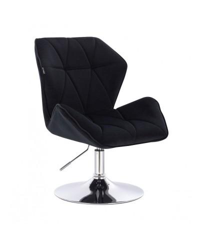 Fotel do domu CRONO czarny - dysk chrom