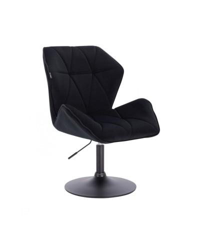 Czarne krzesło do jadalni CRONO do stołu - dysk czarny