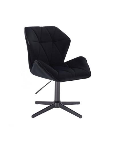 Czarne krzesło do salonu CRONO - krzyżak czarny