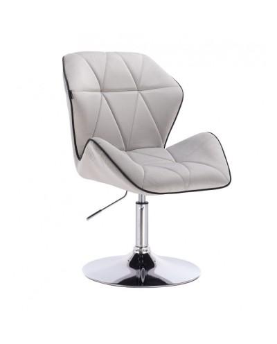Fotel wypoczynkowy do domu CRONO stalowy - dysk chrom