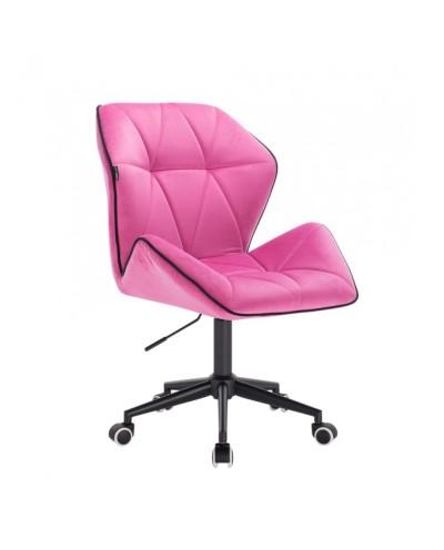 Krzesło obrotowe CRONO malinowy welur - czarne kółka