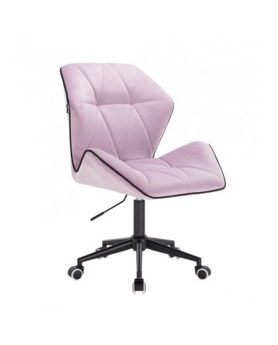 Krzesło obrotowe CRONO wrzosowy welur - czarne kółka