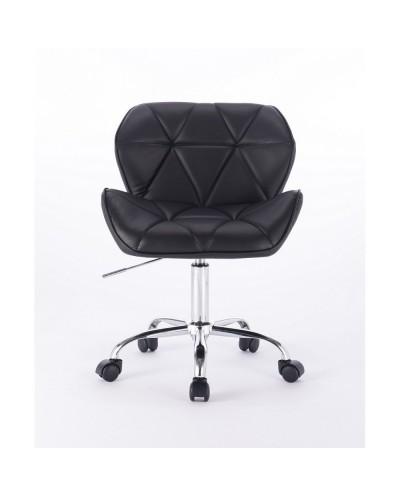 Małe krzesło PETYR UNO czarne - kółka chrom