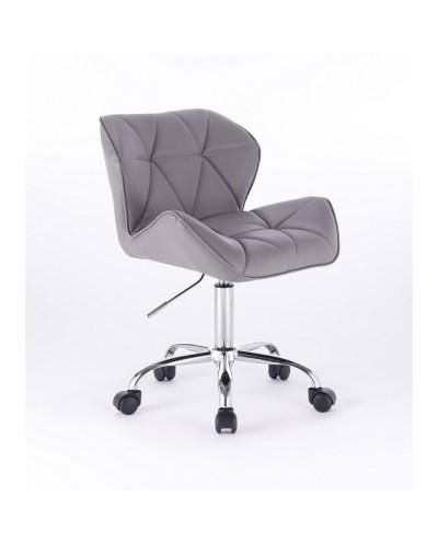 Małe krzesło PETYR UNO szare - kółka chrom