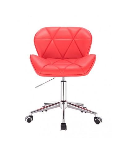 Małe krzesło PETYR UNO czerwone - kółka chrom