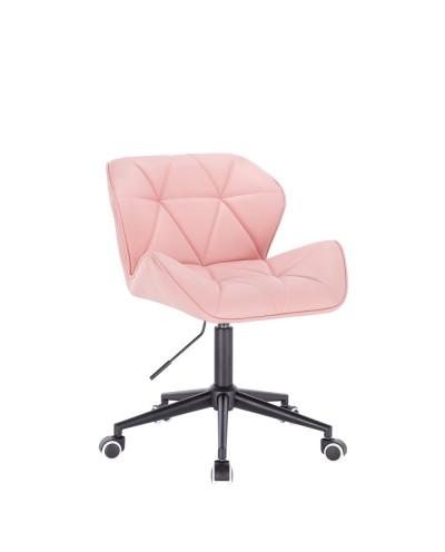Obrotowe krzesło PETYR UNO różowe - kółka czarne