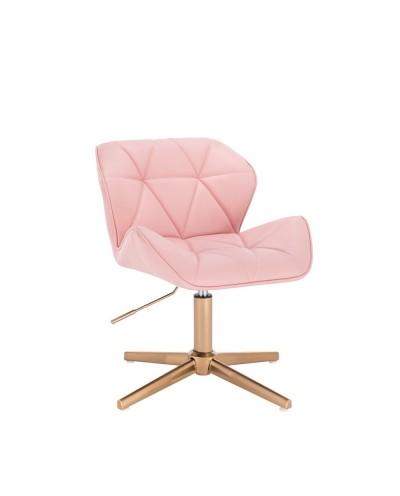 Krzesło dla dziewczynki PETYR UNO różowe - złoty krzyżak